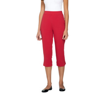Susan Graver Weekend French Terry Pull-On Crop Pants - A252251