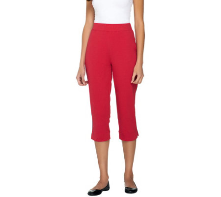 Susan Graver Weekend French Terry Pull-On Crop Pants