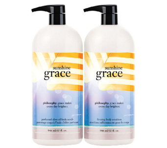 philosophy super-size sunshine grace 32 oz. duo - A255451