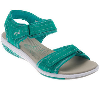 """As Is"" Ryka Suede Ankle Strap Sandals w/ Adj. Straps - A262351"