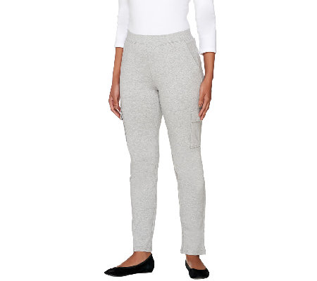 Denim & Co. Active Petite French Terry Pull-On Pant