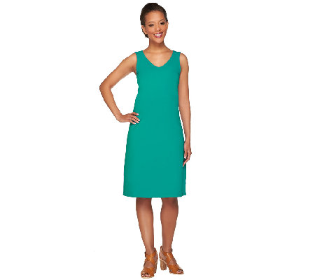 Isaac Mizrahi Live! Regular Sleeveless Knit Dress