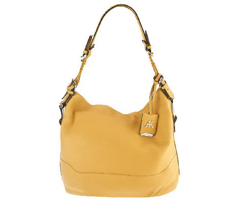 """As Is"" Aimee Kestenberg Leather Lauren Hobo with Woven Handles"