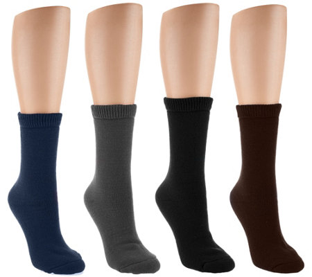 CASA 4 Pairs Thermal Looping Comfort Socks