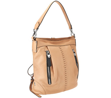 """As Is"" orYANY Italian Leather Convertible Backpack -Marlene"