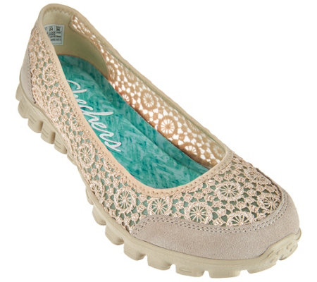 Skechers Crochet Mesh Skimmers with Memory Foam - Flighty