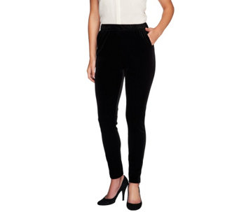 """As Is"" Edge by Jen Rade Regular Slim Leg Velvet Pants - A277051"