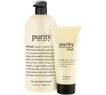 philosophy purity made simple cleanser and mask duo - A277251