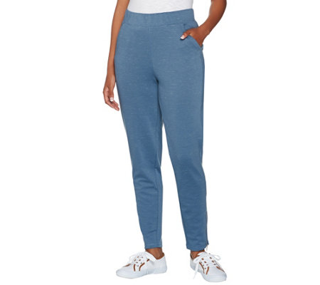 Isaac Mizrahi Live! SOHO Space Dye Ankle Pants w/ Zipper Detail
