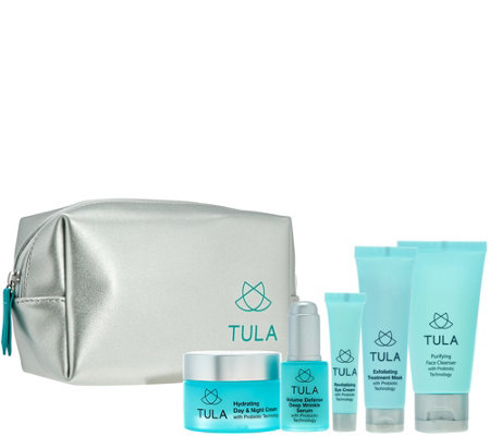 TULA Probiotic Skincare 5-Piece Starter Kit with Travel Bag