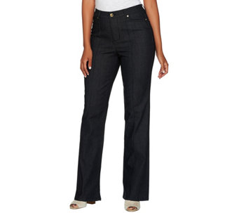 C. Wonder Petite Boot Cut Jeans with Seaming Detail - A281451