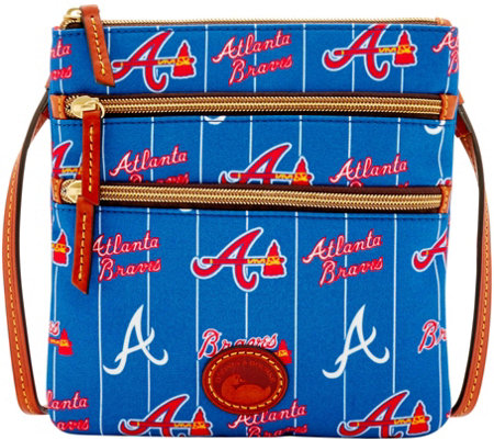 Dooney & Bourke MLB Nylon Braves Triple Zip Crossbody