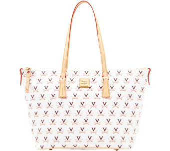 Dooney & Bourke NCAA University of Virginia Zip Top Shopper - A283251