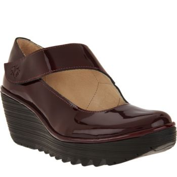 FLY London Leather Mary Janes - Yasi