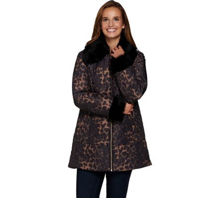 Susan Graver Animal Print Quilted Jacket