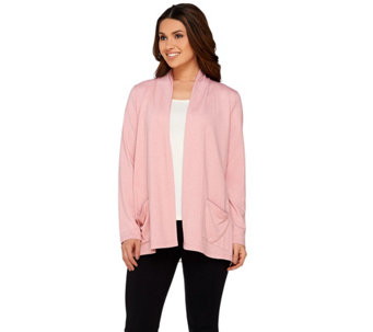 """As Is"" LOGO Lounge by Lori Goldstein Cardigan with Hem Detail - A284251"