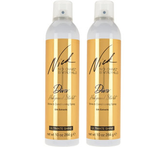 Nick Chavez Diva Hollywood Starlet Shine Spray 10 oz Duo - A284651