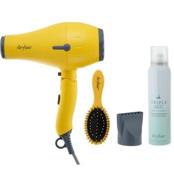 Drybar Baby Buttercup Travel Hair Dryer w/ Brush & Triple Sec