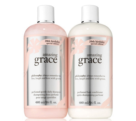 philosophy amazing grace anniversary shampoo & conditioner duo