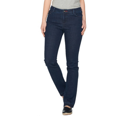 Peace Love World Petite Straight Leg Denim Jeans w/ Released Hem