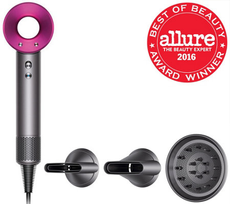 Dyson Supersonic Hair Dryer w/3 Attachments & Non-Slip Mat