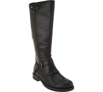 """As Is"" BareTraps Tall Shaft Boots with Buckle Detail - Caissy - A293051"
