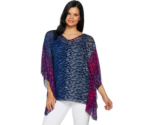 Attitudes by Renee Artisan Caftan Top with Solid Jersey Tank
