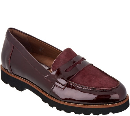Earthies Leather and Haircalf Loafers - Braga