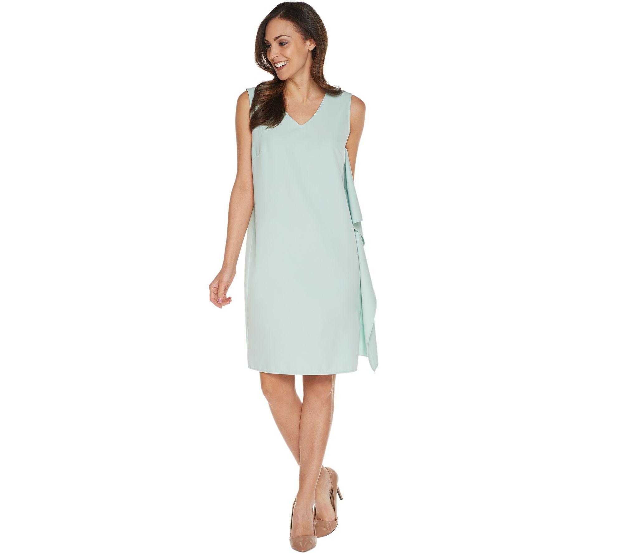 Linea by Louis Dell'Olio Regular Sleeveless Dress w/Cascade - A302551