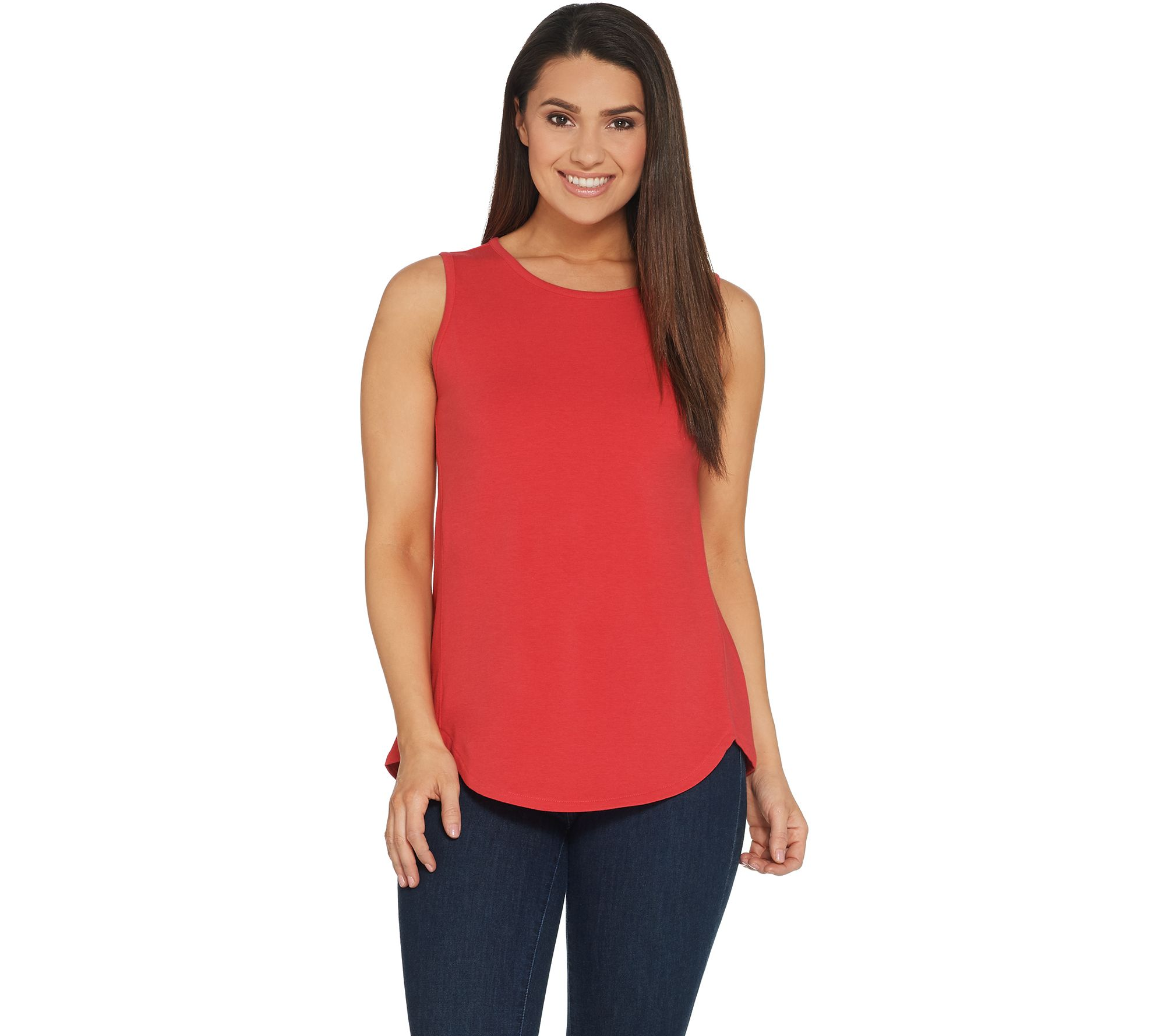 Denim & Co. Essentials Tulip Hem Knit Tank with Forward Seams - A307551