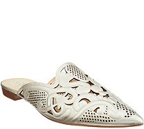 Vince Camuto Leather Cutout Pointy Toe Mules - Meekel - A309551