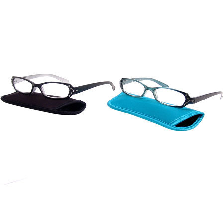 Foster Grant Set of 2 Zaddie Bling Readers