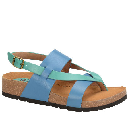 Sofft Leather Color-Block Slingback Sandals - Bristol