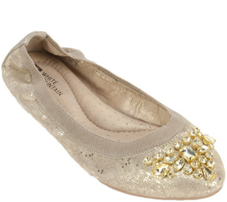 White Mountain Leather Ballet Flats - Carella
