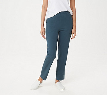 Denim & Co. Original Waist Stretch Regular Pants w/ Side Pockets - A53351