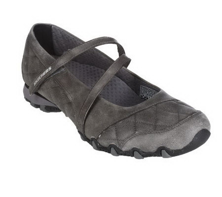 Skechers Leather Quilted Maryjanes