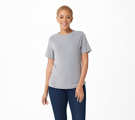 Susan Graver Essentials Liquid Knit Short Sleeve Top