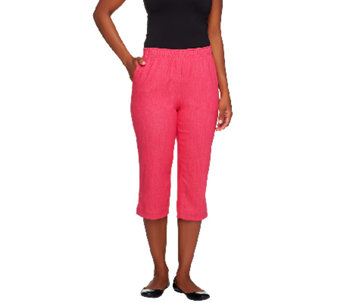 "Denim & Co. ""How Timeless"" Pull-on Stretch Color Denim Capri Pants - A223052"