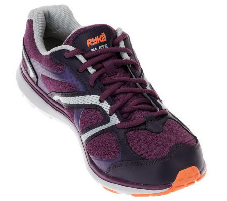 Ryka Elate Leather & Mesh Lightweight Fitness Shoes