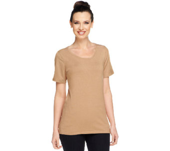 Linea by Louis Dell'Olio Whisper Knit Scoop Neck Top - A233952