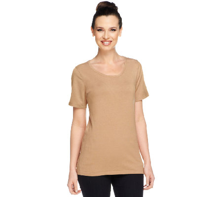 Linea by Louis Dell'Olio Whisper Knit Scoop Neck Top