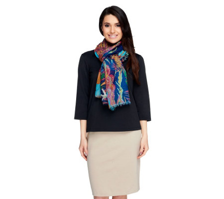 Joan Rivers Tropical Reef Scarf