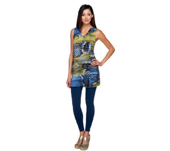 """As Is"" Women with Control Sleeveless V-Neck Tunic & Leggings Set - A259752"