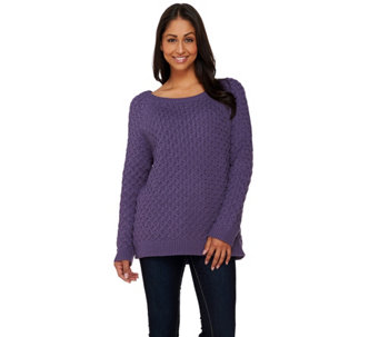 Denim & Co. Novelty Stitch Pull-over Sweater - A260052