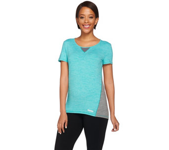 Cuddl Duds Sport Layer Short Sleeve Crew Shirt - A263152