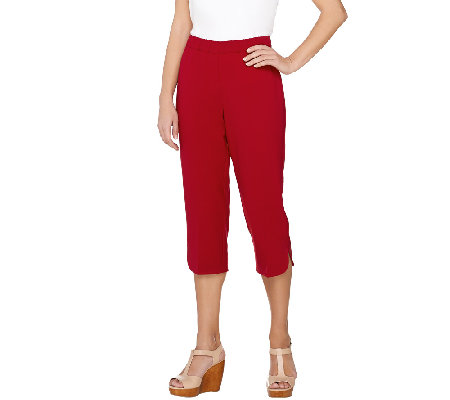 Susan Graver Chelsea Stretch Comfort Waist Pull-On Capri Pants