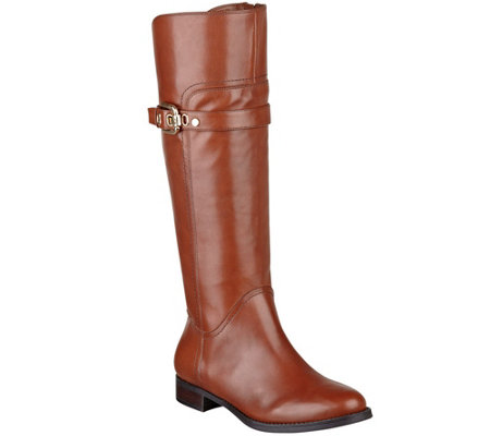"""As Is"" Marc Fisher Leather Tall Shaft Riding Boots - Taite"