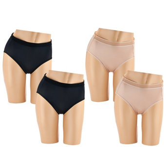Breezies Set of 4 Slinky Micro Brief Panties - A267052