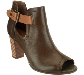 Clarks Artisan Leather Open-toe Booties - Shira Nicole - A268852