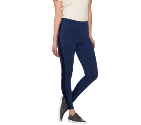 Isaac Mizrahi Live! SOHO Slim Leg Knit Pants w/ Zipper Detail